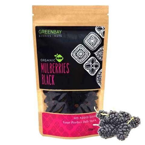 Greenbay Μαύρα μούρα Mulberries Raw αποξηραμένα 125γρ