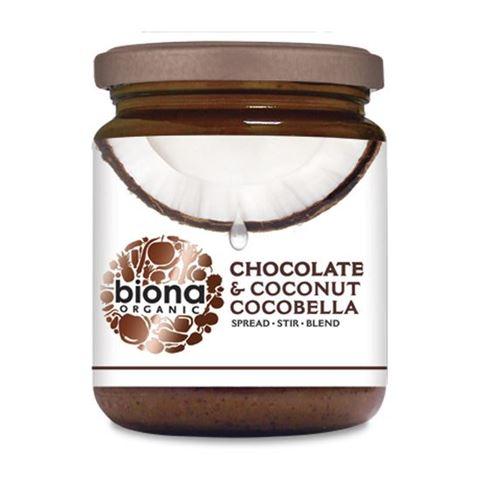 Biona Επάλειμμα κακάο & καρύδα Cocobella χωρίς προσθήκη ζάχαρης 250γρ