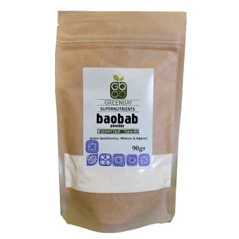 Greenbay Baobab (Μπαομπάπ) σε σκόνη -RAW -BIO 90γρ
