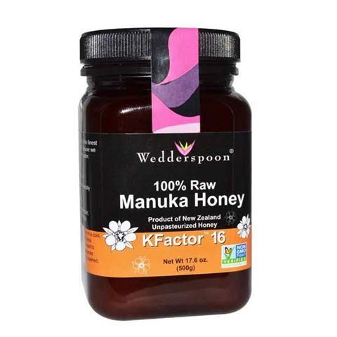 Wedderspoon Ωμό ακατέργαστο μέλι Μανούκα KFactor 16+, 250γρ