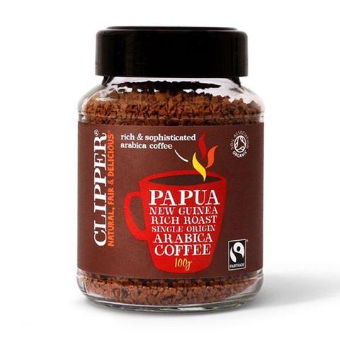 Clipper Στιγμιαίος καφές Αrabica Παπούα Νέα Γουινέα (Fair Trade) 100γρ