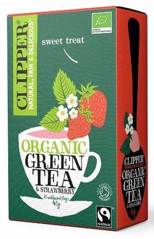 Clipper Πράσινο τσάι με Φράουλα 20x2γρ