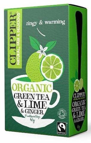Clipper Πράσινο τσάι με Λαϊμ και Τζίντζερ 20x2γρ
