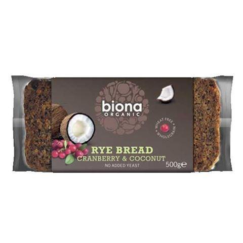 Biona Ψωμί Σίκαλης με Κράνμπερι & Καρύδα 500gr