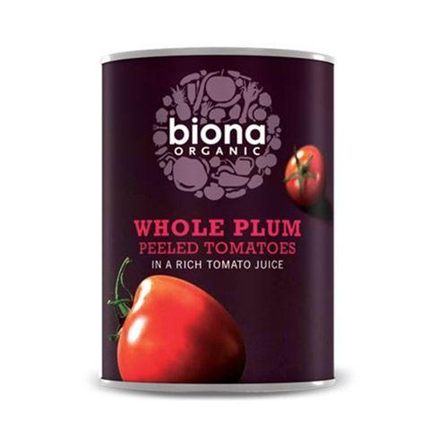Biona Αποφλοιωμένες Tομάτες σε πλούσιο χυμό Τομάτας 400γρ