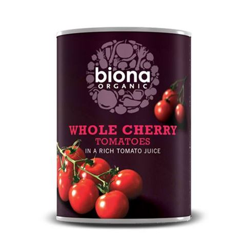 Biona Τοματίνια Tσέρρυ σε πλούσιο χυμό Τομάτας 400γρ