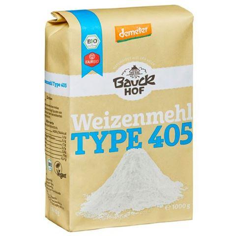 Bauck hof Αλεύρι Σιταριού Ζαχαροπλαστικής Τ 405, 1kg