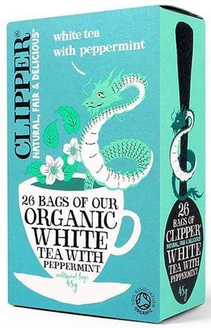 Clipper Λευκό Τσάι με μέντα 26x2γρ