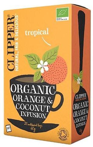 Clipper Εκχύλισμα Πορτοκαλιού & Καρύδας 20x1,5γρ