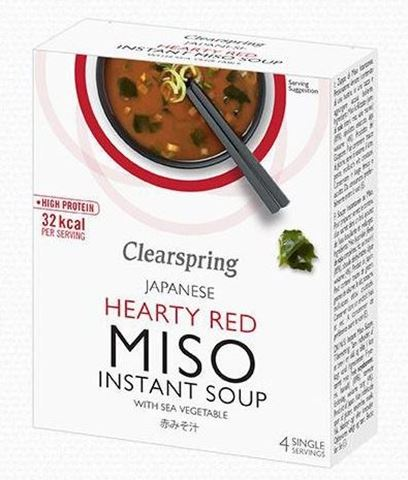 Clearspring Miso Σούπα Στιγμής με Χόρτα Θαλάσσης Hearty Red 40γρ