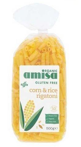 Amisa Ριγκατόνι από Καλαμπόκι και Ρύζι 500gr