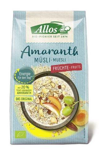 Allos Μούσλι Αμαράνθου με Φρούτα 375γρ χωρίς ζάχαρη