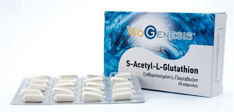 Viogenesis S-Acetyl L-Glutathion 60 Κάψουλες