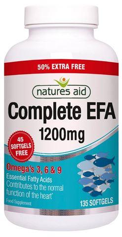 Natures Aid Super Complete EFA (Omega 3, 6 & 9) 90 Μαλακές Κάψουλες + 45 Κάψουλες