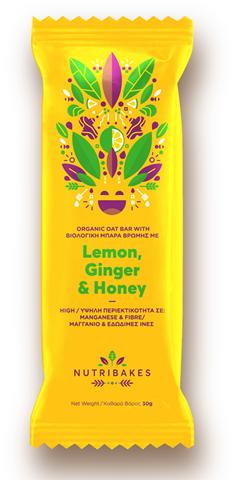 Nutribakes Oat bars Lemon, Honey & Ginger 30g