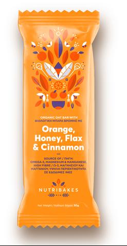 Nutribakes Oat bars Orange & Honey 30g