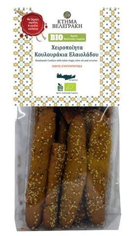 Βελεγράκης Κουλουράκια Ελαιόλαδου με Ζάχαρη Καρύδας και Κανέλα Κεϋλάνης 200γρ