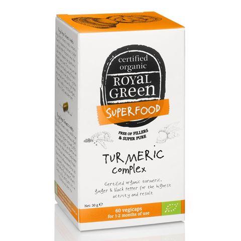 Royal Green Βιολογικό Σύμπλεγμα Turmeric 60 Κάψουλες