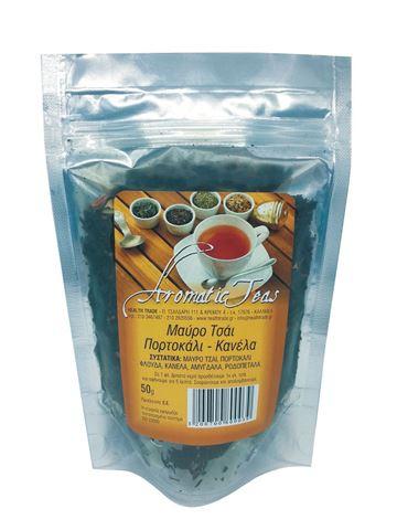 Health Trade Μαύρο τσάι - Πορτοκάλι-Κανέλα 50gr