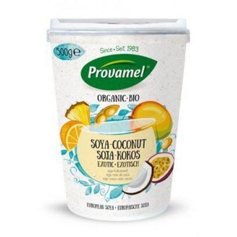 Provamel Επιδόρπιο σόγιας καρύδα εξωτικά φρούτα ΒΙΟ 500gr Χωρίς Ζάχαρη