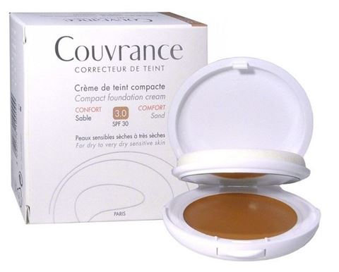Avene Couvrance Compact Foundation, Sable 3.0, SPF30, 10γρ