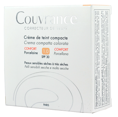 Avene Couvrance Compact Foundation, Porcelain 1.0, SPF30, 10γρ