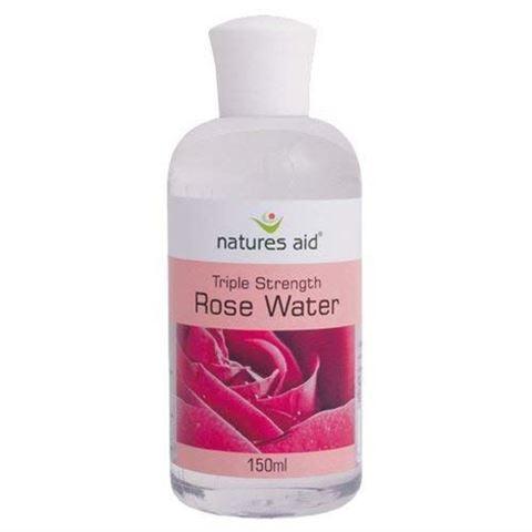 Natures Aid Rose Water (Τριπλής Απόδοσης) 150ml