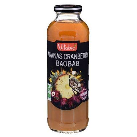 "Vitabio Χυμός Ανανά, Κράνμπερι & Baobab- ""Αντιοξειδωτικός"" 500ml"