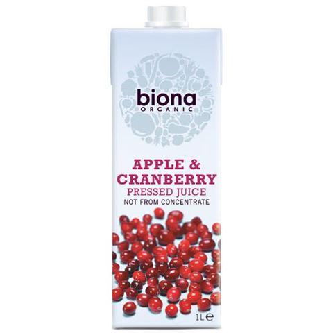 Biona Χυμός Μήλο & Κράνμπερι Tetrapak 1000ml