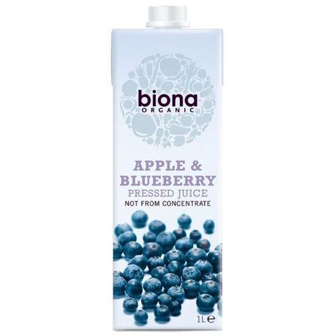 Biona Χυμός Μήλο & Μύρτιλλο Tetrapak 1000ml