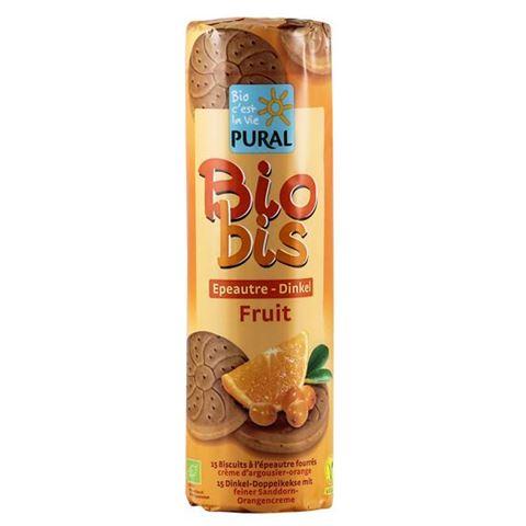 Pural Μπισκότα Ντίνκελ με Πορτοκάλι & Ιπποφαές 300γρ Vegan