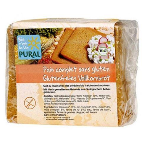 Pural Ψωμί ολικής σε φέτες χωρίς γλουτένη 375γρ