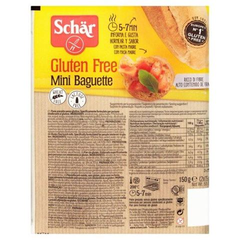 Dr. Schar Μπαγκέτες μίνι χωρίς γλουτένη/σιτάρη/γλυκόζη 150γρ