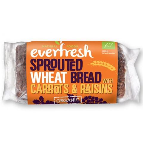 Everfresh Ψωμί Φύτρου Σιταριού με Σταφίδες & φρέσκο Καρότο ΒΙΟ 400gr
