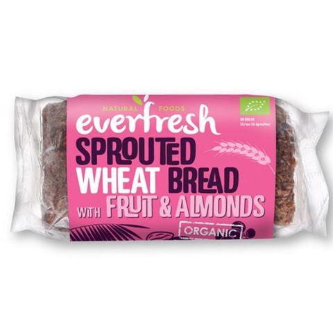 Everfresh Ψωμί Φύτρου Σιταριού με Αμύγδαλα, Σταφίδες & Χουρμάδες ΒΙΟ 400gr