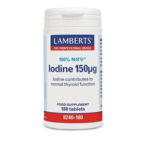 Lamberts Iodine 150μg, 100%NRV, 180 Ταμπλέτες