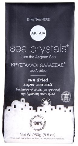 Ακταία Κρύσταλλοι Θάλασσας µε Φυσική Αφύγρανση στον Ήλιο 250g