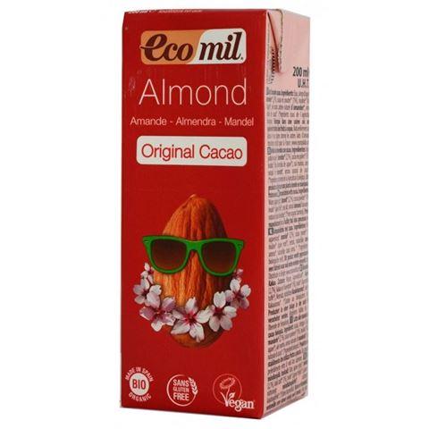 Ecomil Γάλα Αμυγδάλου με Σιρόπι Αγαύης & Κακάο 200ml