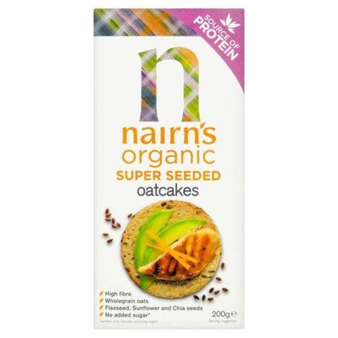 """Nairn's Μπισκότα Βρώμης Ολικής """"Super Seeded"""" 200γρ"""