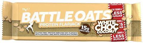 Battleoats Protein Flapjack White Choc Cococnut 70gr, 15gr Protein