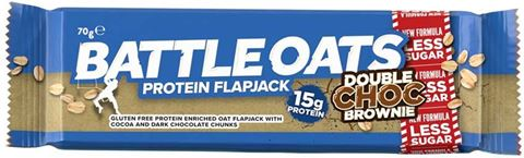 Battle Oats Protein Flapjack Double Choc Brownie 70gr, 15gr Protein