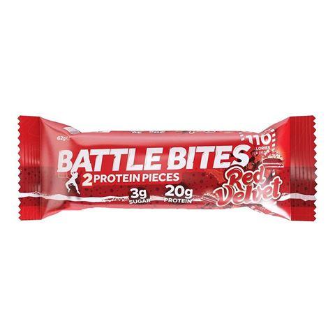 Battle Bites 2 Protein Pieces Red Velvet 62gr, 20gr Protein, 3gr Sugar