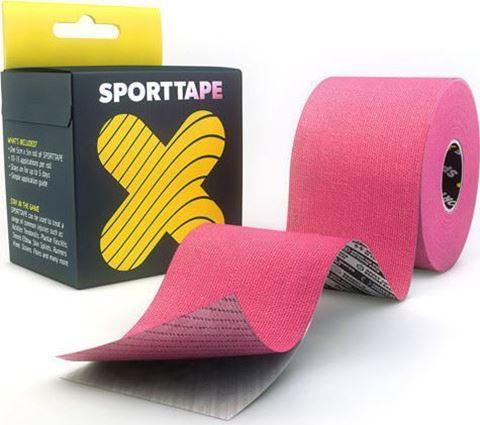 Sporttape Extra Sticky Ταινία Κινησιοπερίδεσης 5CM x 5M Pink