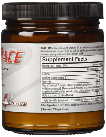 First Endurance PreRace (increases mental acuity, max workload, cardiac output) - σκόνη 98 γρ