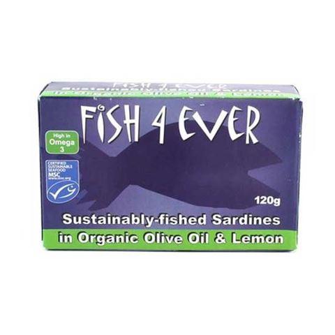 Fish 4 Ever Σαρδέλες σε Λεμόνι & Βιολογικό Ελαιόλαδο 120gr