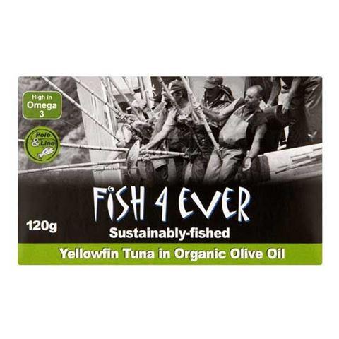 Fish 4 Ever Τόνος Κιτρινόπτερος σε Βιολογικό Ελαιόλαδο 120gr