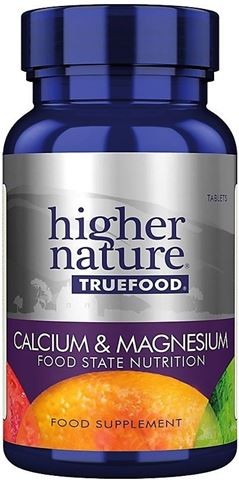 Higher Nature True Food Calcium & Magnesium 120 Φυτικές Ταμπλέτες