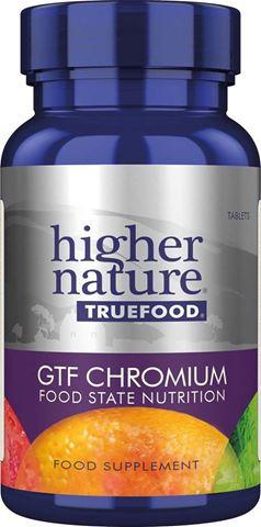 Higher Nature True Food GTF Chromium 30 Φυτικές Ταμπλέτες