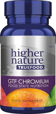 Higher Nature True Food GTF Chromium 90 Φυτικές Ταμπλέτες