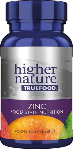 Higher Nature True Food  ZINC 90 Φυτικές Ταμπλέτες